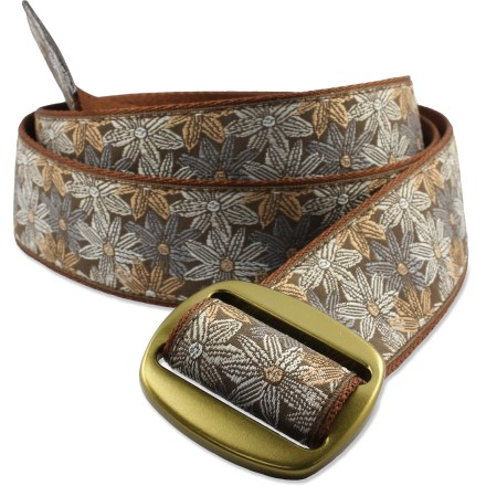 The colorful, casual Bison Manzo belt complements your summertime style. - $8.83