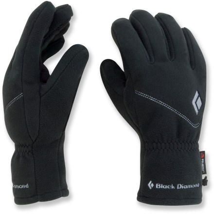 Camp and Hike Black Diamond WindWeight form-fitting, breathable fleece gloves for women are designed to keep hands warm while allowing maximum digital dexterity. - $9.83