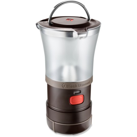 Camp and Hike The powerful Black Diamond Titan lantern lights up your climbing basecamp or a backyard party with bright, ambient light. - $63.93