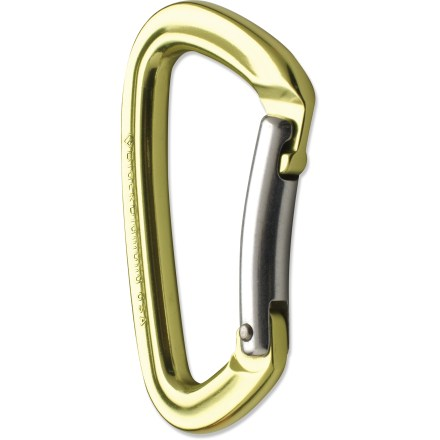 Climbing The Black Diamond Positron Bent Gate carabiner delivers the antisnag benefits of a keylock nose at an affordable price. - $7.95