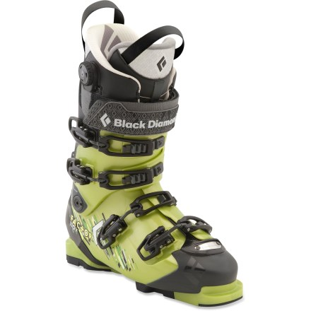 Ski The Black Diamond Factor 110 randonee boots have a moderate flex to give freeride skiers a comfortable ride both inbounds and out. - $279.83