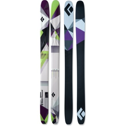 Ski The fun and lively Black Diamond AMPerage skis turn any terrain into your personal playground. From big-mountain powder lines to arcing turns on groomers, AMPerage skis handle it all. Wide 115mm waists and camber underfoot let you transition from powder snow to hardpack; deep sidecut makes turning easy. Formula One Technology(TM) features 3 ribs that run the length of the skis to deliver liveliness and power for hard-charging skiing. Poplar core with birch sidewalls produces a lot of pop and delivers good edge hold while carving turns. Full tip and tail rocker provide a playful feel for creative skiing on backcountry powder runs and lift-served groomers. Ollie Bar fiberglass layer stiffens the tails of the skis to help you land big jumps. Torsion Box technology wraps fiberglass around the core like a burrito, creating excellent torsional power and energy pop. Base or topsheet color may vary from online photo. High-speed sintered bases on the Black Diamond AMPerage skis feature a cross-hatch stone grind for the best balance of durability, glide and maintenance. - $689.00