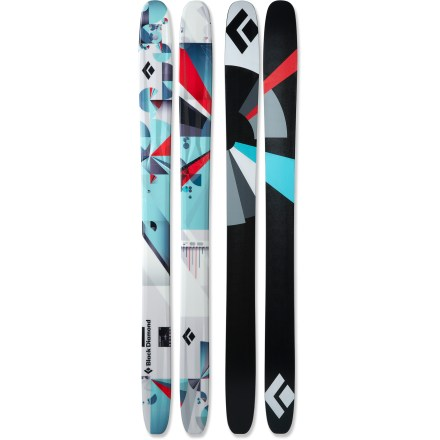 Ski The fun and lively women's Black Diamond Element skis turn any terrain in to your personal playground. From big-mountain powder lines to arcing turns on groomers, the Element skis can handle it all. Wide 115mm waists and camber underfoot allow you to transition from powder snow to hardpack; deep sidecut makes turning easy. Formula One Technology(TM) features 3 ribs that run the length of the ski to deliver liveliness and power for hard-charging skiing. Poplar core with birch sidewalls produces a lot of pop and delivers good edge hold while carving turns. Full tip and tail rocker provide a playful feel for creative skiing on backcountry powder runs and lift-served groomers. Ollie Bar fiberglass layer stiffens the tails of the skis to help you land big jumps. Torsion Box technology wraps fiberglass around the core like a burrito, creating excellent torsional power and energy pop. Base or topsheet color may vary from online photo. High-speed sintered bases on the Black Diamond Element skis feature a cross-hatch stone grind for the best balance of durability, glide and maintenance. - $689.00