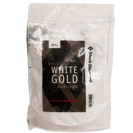 Climbing Black Diamond Uncut White Gold Pure chalk is specifically blended for climbing to keep your hands dry when you're working through hard moves. - $10.95