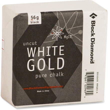 Climbing Use this block of Black Diamond Uncut White Gold Pure chalk to keep your hands dry when you're working through hard moves. - $1.95