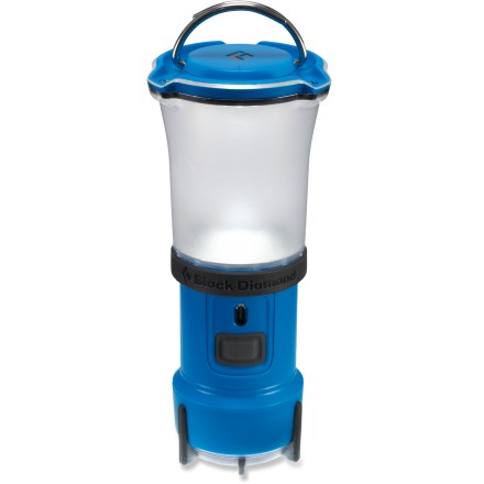 Camp and Hike The Black Diamond Voyager lantern lights up your camp with a soft glow and doubles as a flashlight for nighttime wayfinding or hiking. - $24.93