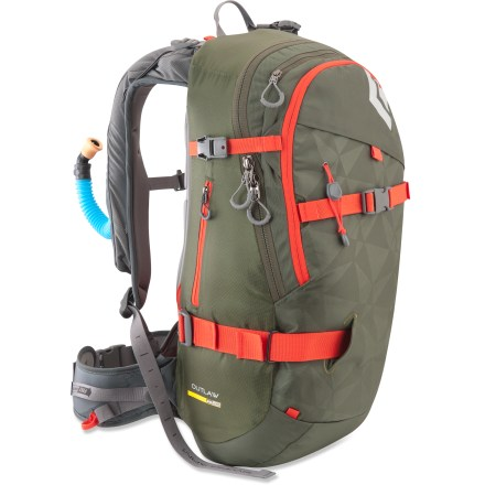 Ski The Black Diamond Outlaw Avalung ski pack is ideal for backcountry snowplay. It can increase the time you have to breathe if trapped in an avalanche. - $269.95