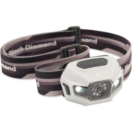 Camp and Hike The sophisticated Black Diamond ReVolt headlamp has a bright, powerful beam that lights up the night, and it can operate on alkaline or rechargeable NiMH batteries (both are included). - $29.83