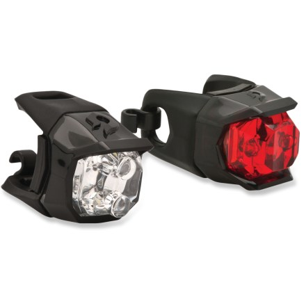Fitness The Blackburn Click Combo light set offers easy-to-use front and rear lighting to improve your visibility to motorists as you ride. - $25.00