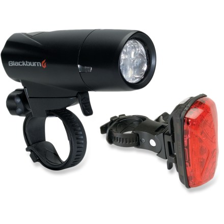 Fitness The Blackburn Voyager 3.3 / Mars 1.0 Combo bike light set provides a potent, bright combination at a great value, improving your visibility while riding! - $25.93