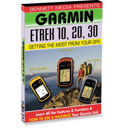 Camp and Hike Get the most out of your Garmin eTrex 10, 20 or 30 GPS unit! This easy-to-understand instructional DVD will have you quickly navigating like a pro. Learn everything you need to know to begin using your new GPS, from projecting waypoints to setting up routes. Step-by-step instructions cover various navigational features. Learn position fix and datum, saving and identifying waypoints, navigational principles and terms, navigating to waypoints, forming and following routes. Video includes editing waypoints and routes, saving tracks, customizing the navigator, advanced features and functions, and tips and techniques. - $17.93
