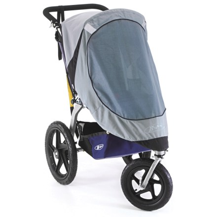 Fitness Protect your child-the BOB Single Sun Shield reduces heat inside stroller, as well as glare and harmful UVA/UVB rays from sun light. - $43.93