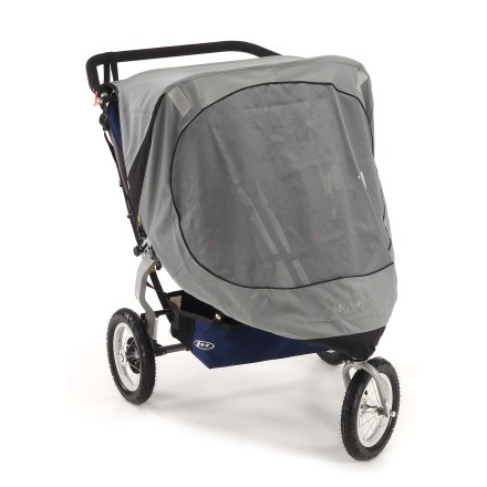 Fitness Protect your kids-the BOB Duallie Sun Shield reduces heat inside stroller, as well as glare and harmful UVA/UVB rays from sun light - $36.93