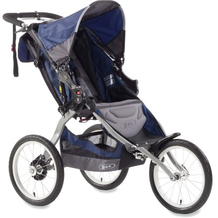 Fitness Designed to comfortably carry a child as you embark on your training sessions, this stable stroller features a 5-point padded harness and a hand-operated brake to keep your tyke safe and secure. - $336.00