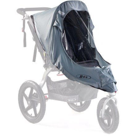 Fitness Providing protection for passengers, the BOB Revolution Stroller weather shield offers easy-to-install fortification from the elements. - $48.00