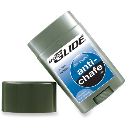 Camp and Hike This easily portable 1.5 oz stick of Bodyglide anti-chafe skin protectant creates an invisible barrier on your skin to prevent blisters, chafing or any skin discomfort caused by friction. - $10.00