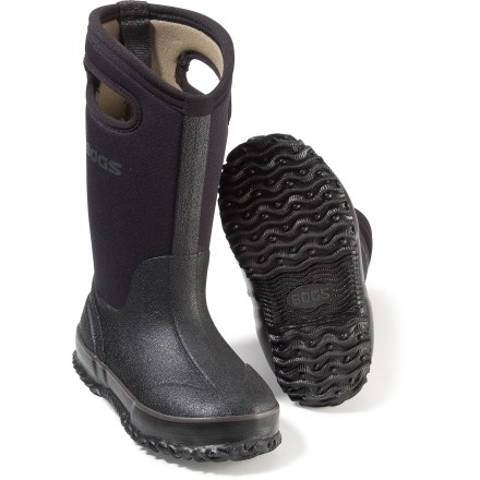 The durable Bogs Classic High insulated rain boots will keep kids' feet warm and dry in wet conditions. - $79.95