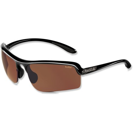 Entertainment Don't let the sun's glare keep you from spotting where your drive landed. Bolle Vitesse Golf sunglasses are ready to hit the links. EagleVision 2 Light Cinnamon lenses are perfect for days on the golf course in medium and bright light. Lightweight and virtually shatterproof, polycarbonate lenses are 20 times more impact resistant than glass and one-third the weight. Nylon frames are lightweight, yet strong enough to withstand the rigors of an active outdoor lifestyle. Grippy rubber temple tips and nose pads deliver firm, and comfortable adhesion, especially when you sweat. Bolle Vitesse sunglasses come with a soft carrying case and lens cloth. Closeout. - $26.83