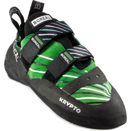 Climbing The Boreal Krypto rock shoes are specially designed to get you through tough sections of climbing on steep walls with small holds. - $66.93