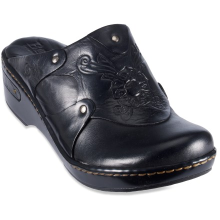 Slip into the Born Coraline clogs for everyday casual comfort. Full-grain leather uppers are stylish and comfortable. Leather linings and topsoles absorb moisture, enhancing comfort. Polyurethane midsoles and outsoles absorb shock for comfort; steel shanks add support. Closeout. - $38.83
