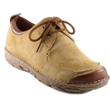 The Born Kaminski Oxford shoes feature a classic look and design that is perfect for urban settings. Natural, breathable, full-grain leather uppers offer comfort and durability; contrast stitching adds style. Handsewn Opanka construction supplies flexibility and comfort. Leather linings allow easy entry and conform to your foot shape for a personalized fit. DRYZ(R) foam footbeds lower foot temperature and absorb moisture, turning it into gel which evaporates when shoes are removed. Rubber midsoles and polyurethane outsoles supply comfort and nonslip traction on a variety of surfaces. Closeout. - $53.83