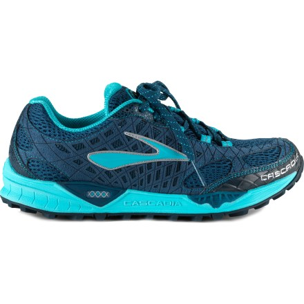 Fitness Conquer trails with the Brooks Cascadia 7 women's trail-running shoes, which offer an aggressive tread with a lightweight, supportive upper for an all-around trail platform. - $54.83