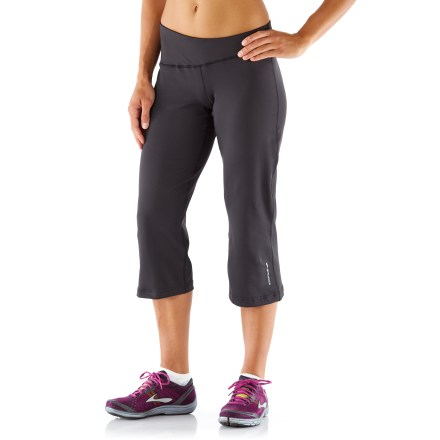 Fitness Use the Brooks Glycerin(R) III capris for warm-weather workouts and enjoy the stylish comfort and technical fabric. Stretchy fabric moves moisture away from the skin and dries quickly. Asymmetric, wide waistband offers excellent comfort. Flatlock seams offer flexibility and comfort. Rear, drop-in pocket in waistband stores small items. The semifitted Brooks Glycerin III capri pants are not too tight and not too loose. - $41.93