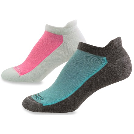 Fitness The women's Brooks Essential Low Cut Tab socks includes 2 pairs of socks with an Achilles tab, breathable mesh panels and moisture-transfer polyester to keep feet dry and comfortable. Full-length foot cushioing. Dri-Stitch(TM) polyester effectively wicks moisture and comforts feet with a smooth, soft feel. Nylon reinforcement in the heel and toe ensures durability. Mesh tops reduce bulk and allow better air circulation, keeping feet cool and comfortable. Low-profile Achilles tab reduces the chances of blisters forming in this friction-prone area. Flat toe seam all but eliminates the chance of blisters caused by friction between harsh seams and toes. Size is knit into the Brooks Essential Low Cut Tab socks for quick identification. *Discount will be applied when you check out. Offer not valid for sale-price items ending in $._3 or $._9. Please note: a package of 2 pairs counts as 1 pair of socks for the 10% volume discount. - $10.93