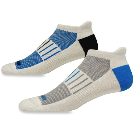 Fitness The Brooks Essential Low Cut Tab Lite socks includes 2 pairs of socks with an Achilles tab, breathable mesh panels and moisture-transfer polyester to keep feet dry and comfortable. - $10.93