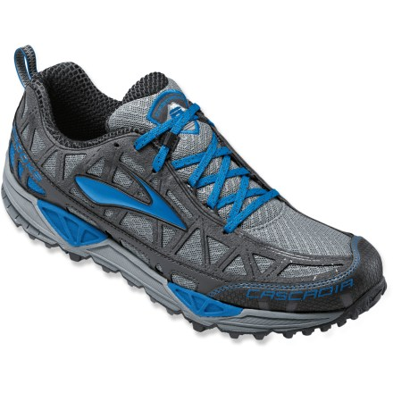 Fitness The men's Brooks Cascadia 8 trail-running shoes offer aggressive trail traction and a responsive, supportive ride that can tackle ultras or quick outings through your local park's trails. - $59.83