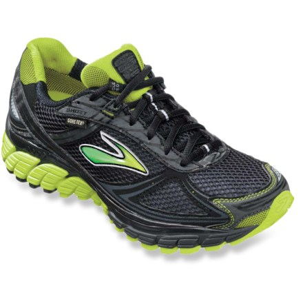 Fitness Light and cushioned, the Brooks Ghost GTX women's road-running shoes offer neutral runners waterproof protection for rainy, puddle-strewn runs around town. - $64.83