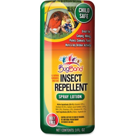 Camp and Hike BugBand Insect Repellent spray with geraniol can be easily applied directly onto exposed skin to form a protective barrier against bloodsucking bugs. - $3.93