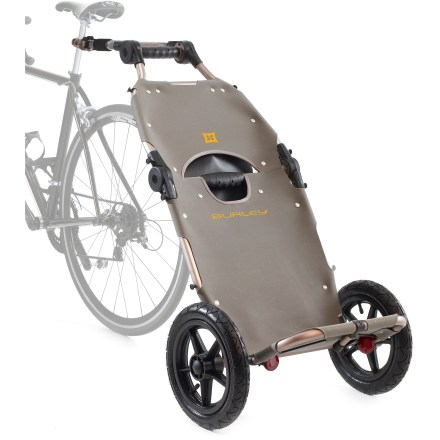 Fitness This urban bike trailer is ideal for the city dweller who makes their grocery run by bike. Pull the loaded trailer behind your bike, and then detach it to wheel groceries straight into the kitchen. - $249.00