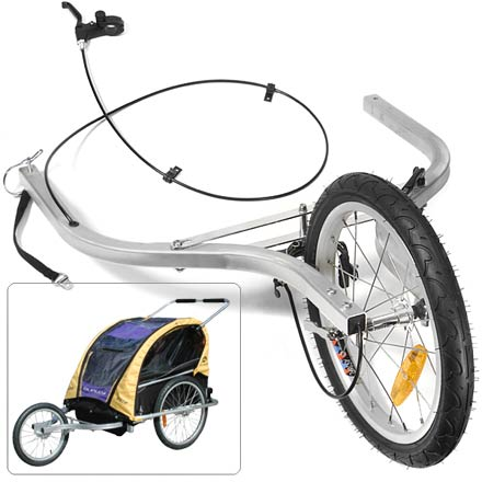 Fitness Turn your '04 - '12 Burley D'Lite(TM) trailer or your 05 - '12 Encore trailer (both sold separately) into a jogging stroller with this easy-to-use conversion kit. - $95.93