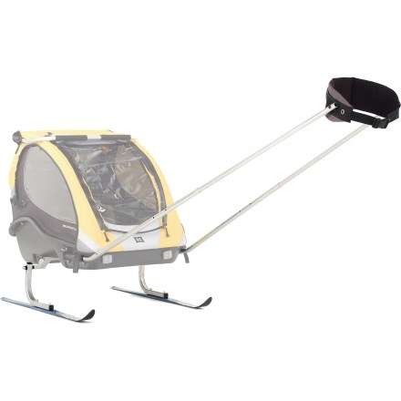 Ski Don't let snow stop your fun! The Burley We! Ski kit converts your Burley trailer for cross-country skiing, skate skiing or snowshoeing adventures. - $275.00