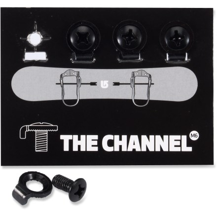 Snowboard Burton M6x16 Hardware Kit makes all 2008 - 2011 Burton bindings compatible with 2012 Burton boards featuring The Channel M6. - $2.93