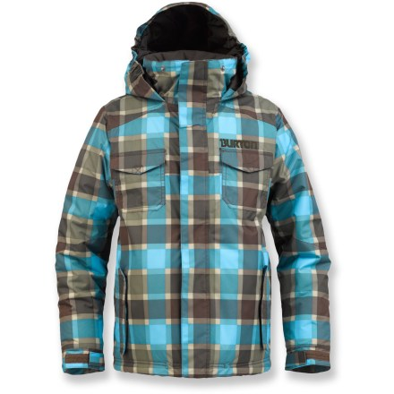 Snowboard The Burton Fray jacket is for boys who live to ride. Its warmth and style combine with full weatherproof protection for all-day fun on the slopes. - $64.83