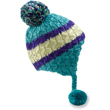Entertainment The Burton Listen Up beanie features chunky knit fabric and a fun pom to keep girls warm, stylish and happy as they play in the snow. Soft acrylic knit offers excellent warmth; it also breathes well during activity and dries quickly when damp. Sherpa fleece lining adds a layer of soft warmth. - $25.00