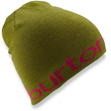 Entertainment Keep your dome warm with the reversible Burton Up On Lights beanie. Acrylic yarn has a soft hand. Up On Lights beanie includes Burton spelled out on 1 side and a Burton logo on the other. - $25.00