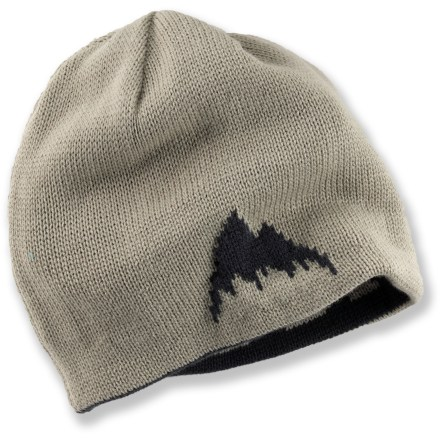 Entertainment Keep your style fresh this winter with the Burton Billboard Heritage beanie. Brushed acrylic yarn has a soft hand. Reversible hat gives you 2 looks; includes a mountain logo on 1 side and Burton spelled out on the other. Burton Billboard Heritage beanie has a slouch fit. - $25.00