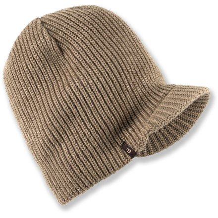Entertainment Top off your winter look with the Burton Ledge beanie. Acrylic yarn has a soft hand. Short visor adds style and helps keep snow out of your eyes. - $25.00