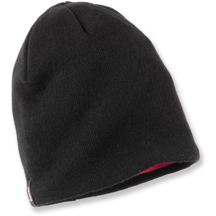 Entertainment The Burton Tech beanie keeps your dome warm without sacrificing your on-slope style. Acrylic exterior is lined with soft polyester fleece for great warmth. - $25.00