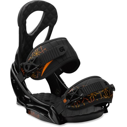 Snowboard The Burton Stiletto EST snowboard bindings provides endless stance adjustability and enhanced board feel and control. - $93.83