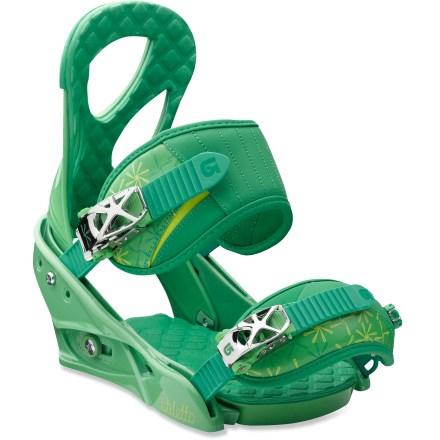 Snowboard Strap in and show off. The Burton Stiletto snowboard bindings let you charge harder, turn quicker and boost larger. They're a blast. - $84.83