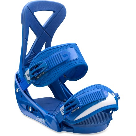 Snowboard The classic Burton Custom snowboard bindings are surfy, playful and fun. Time-tested, rider approved, these bindings are sure to please both new and seasoned riders. - $84.83