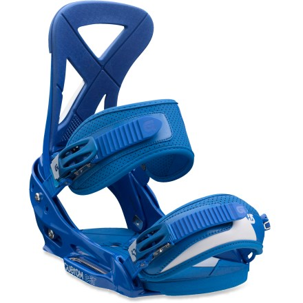 Snowboard Burton Custom EST snowboard bindings feature a buttery flex, supple straps and cushioning throughout for total control and comfort. - $93.83