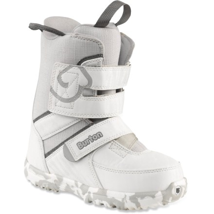 Snowboard Does your little one live to shred? Get them the Burton Grom snowboard boots, featuring oversize features and Room-to-Grow footbeds to keep them happy on the hill. - $44.83