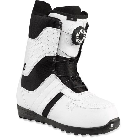 Snowboard The Burton Jet snowboard boots offer a soft, lightweight and comfortable ride to the up-and-coming snowboarder. - $73.83
