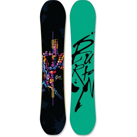 Snowboard The Burton Deja Vu Flying V snowboard is extra forgiving, super poppy and fun, making it the perfect choice for middle of winter pow days, late spring slush fests and ollies in the park. - $208.83