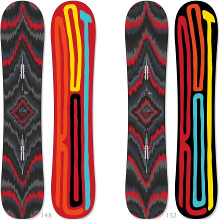 Snowboard The Burton Root snowboard is nothing but fun. Built for all-mountain riding but sized shorter than usual, the Burton Root is ready to conquer the entire mountain. - $223.83